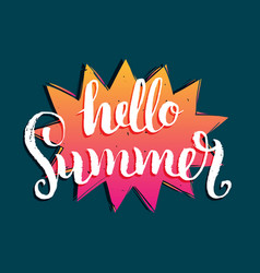 Hello summer background fun vector