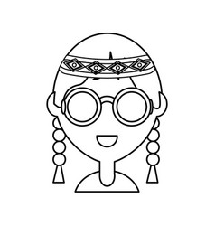 Hippie woman vector