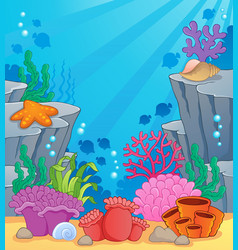 Image with undersea topic 3 vector