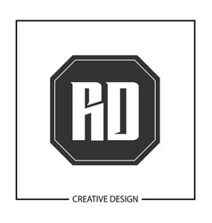 initial letter rd logo template design vector image