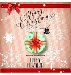 Lettering Merry Christmas and Happy New Year vector image
