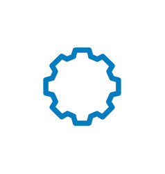 linear gear or cog icon isolated on white vector image
