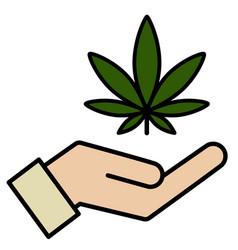 marijuana in hand vector image