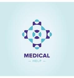 Medic cross logo template vector