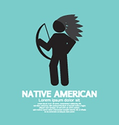 Native American With Weapon Black Symbol Graphic vector