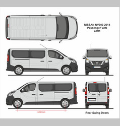 Nissan nv300 passenger van l2h1 2014 vector