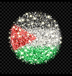 Palestine flag sparkling badge vector