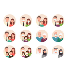 People avatar flat icons vector