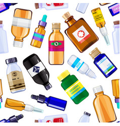 pharmacy medicine bottles pattern vector image