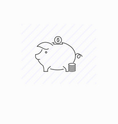 piggy box icon isolated vector image