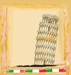 Pisa tower vintage background vector