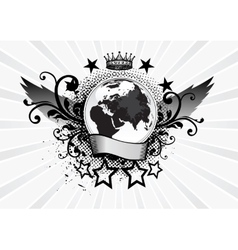 Planet Emblem vector image vector image