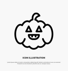 Pumpkin american usa line icon vector