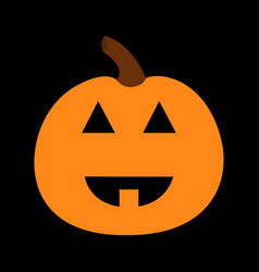 pumpkin funny creepy smiling face happy halloween vector image
