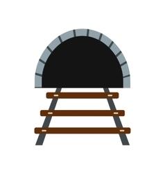 Railway tunnel icon vector