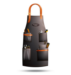 Realistic apron for mechanic vector