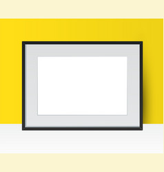 realistic photo frame on wall background perfect vector image