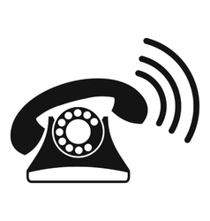 Retro phone icon simple style vector image