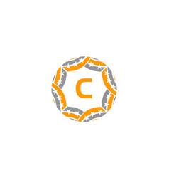 Ribbon circle star initial c vector