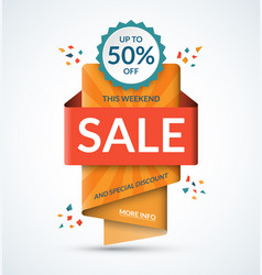 sale banner special discount concept vector image