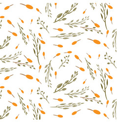 Seamless floral pattern isolated vector
