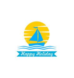 ship logo design vector image