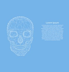 skull human from abstract futuristic polygonal vector image