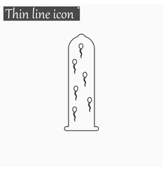 Sperms icon Style thin line vector image