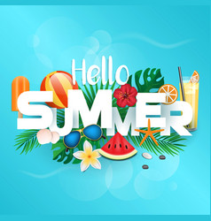 summer background 2018 vector image