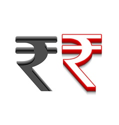 Symbol rupee design vector