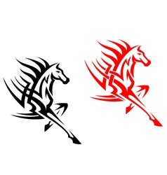 Tribal mustang stallion for mascot vector