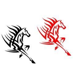 Tribal mustang stallion for mascot vector image