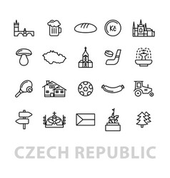 Twenty czech republic icons vector