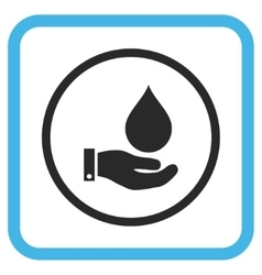 Water Service Icon In a Frame vector image