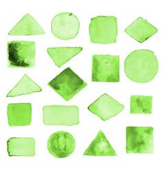 watercolor geometric design elements10 vector image