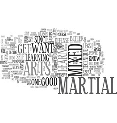 Why do you want to learn mixed martial arts text vector