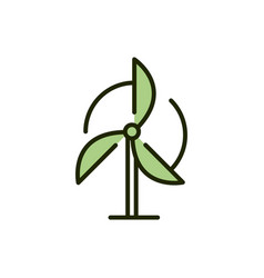 Wind turbine renewable energy environment ecology vector