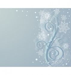 Winter swirl background vector