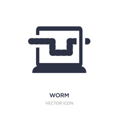 Worm icon on white background simple element from vector