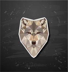 abstract triangle polygonal wolf snout origami vector image vector image