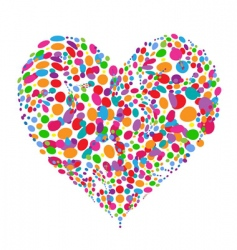 funny colorful heart shape design vector image