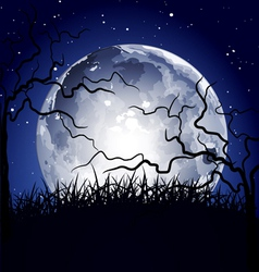 halloween full moon background vector image vector image