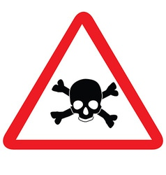 Toxic sign with skull vector image