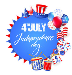 4th july independence day of usa vector image vector image