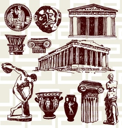 ancient Greece vector image vector image