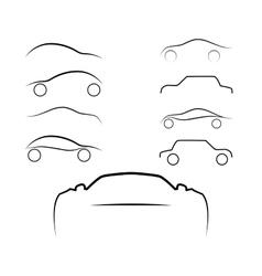 Cars logo set vector image
