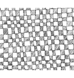 hand drawn checkered pattern vector image vector image