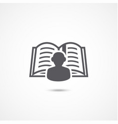 learning icon vector image