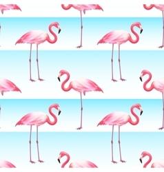Pink Flamingo Seamless Horizontal Stripes Pattern vector image vector image