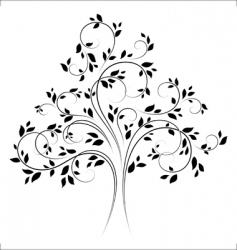 vector tree 4 black vector image